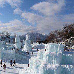 温泉と氷の祭典を堪能