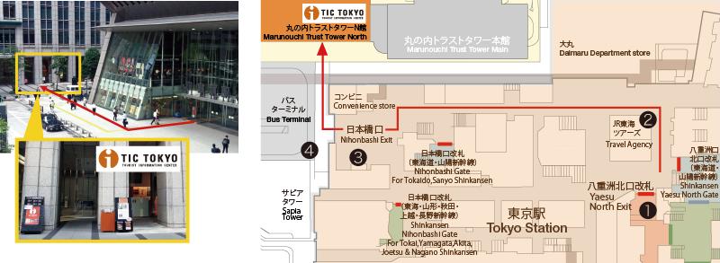 東京駅からのアクセス